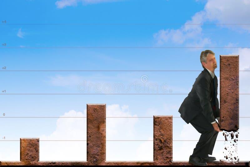 Mercado de valores de acção poderoso & estratégias financeiras imagem de stock