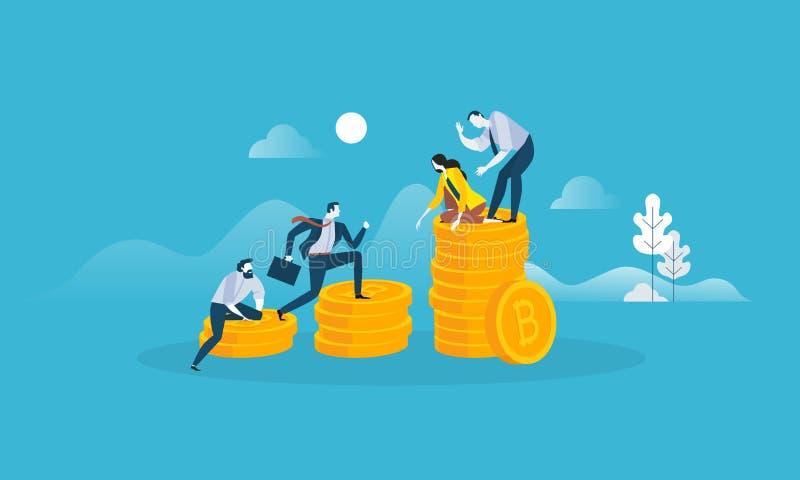 Mercado de valores de Digitaces stock de ilustración