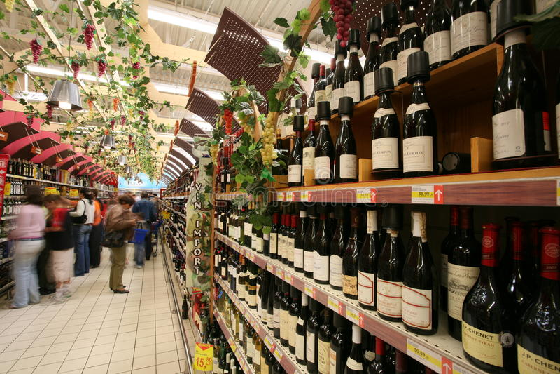 Mercado de vino fotos de archivo libres de regalías