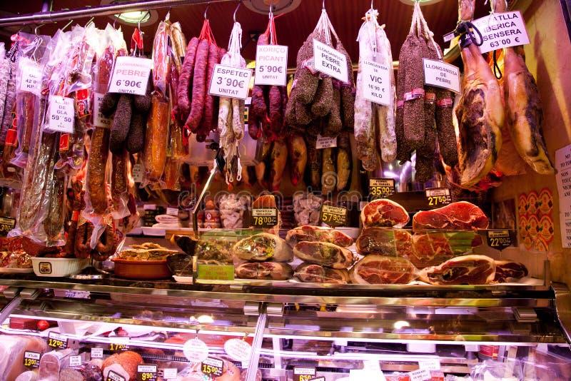Mercado del alimento en Barcelona fotografía de archivo