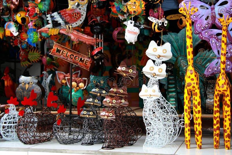 Mercado del arte tradicional de Ubud foto de archivo