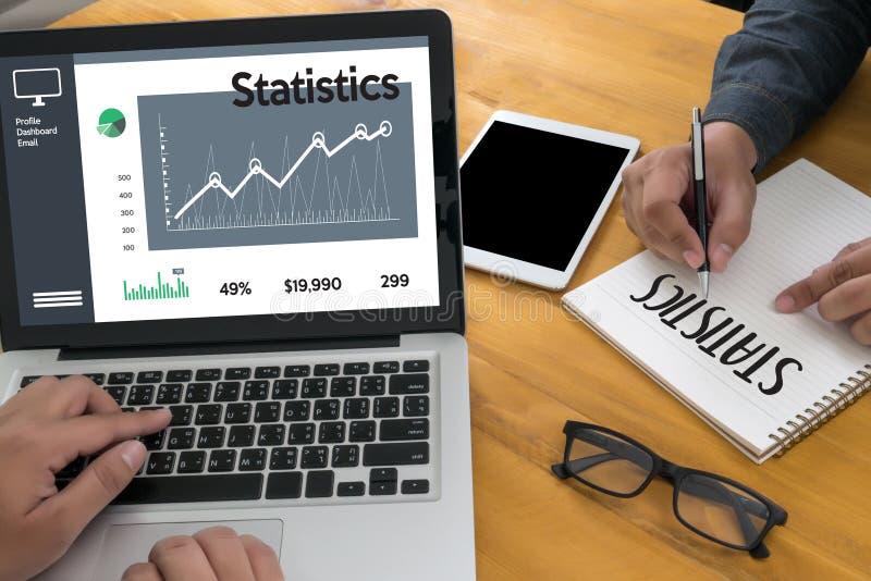 Mercado del aumento del crecimiento del diagrama de los datos de negocio del análisis de las estadísticas foto de archivo libre de regalías