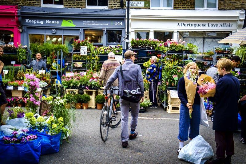 Mercado del camino de Columbia en Londres imágenes de archivo libres de regalías