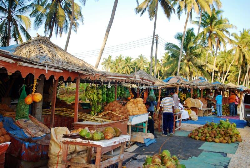 Mercado del coco foto de archivo libre de regalías