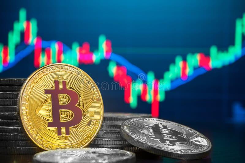 Mercado del comercio del intercambio de Bitcoin y de Cryptocurrency ilustración del vector