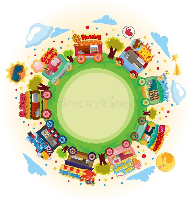 Mercado del departamento alrededor del mundo stock de ilustración