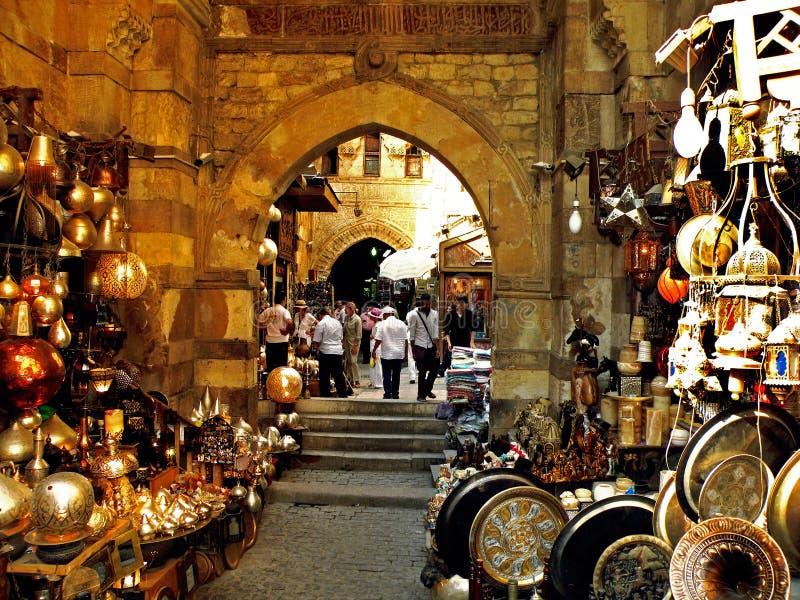 Mercado del khalili del EL de Khan fotografía de archivo libre de regalías