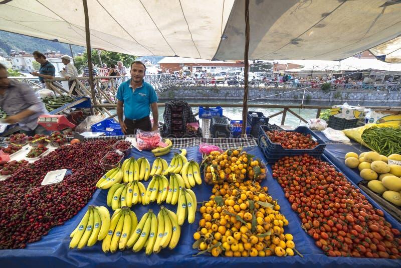 Mercado del Local de Fethiye imagen de archivo libre de regalías