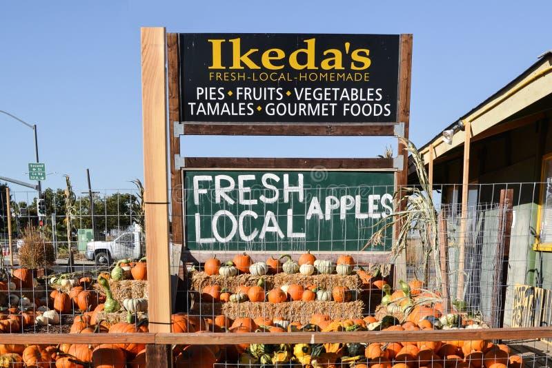 Mercado del país de Ikedas California fotos de archivo libres de regalías