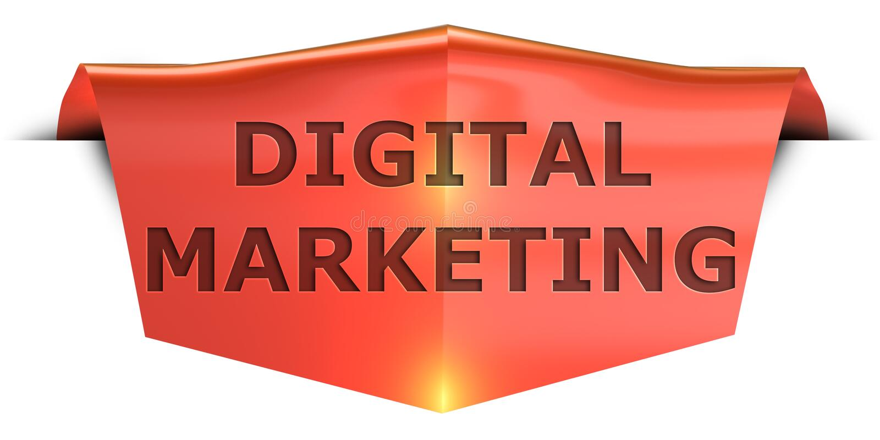 Mercado digital da bandeira ilustração do vetor