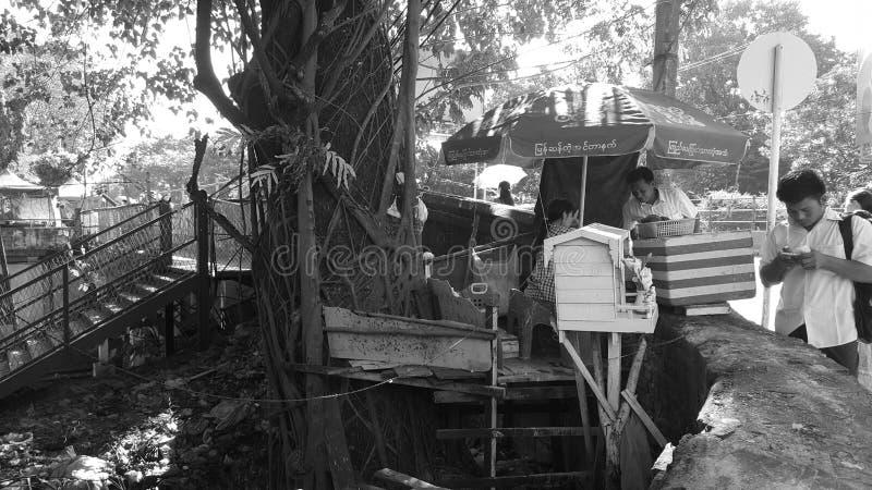 Mercado do alimento da árvore fotografia de stock royalty free