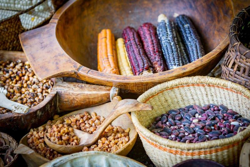Mercado do alimento do nativo americano imagens de stock