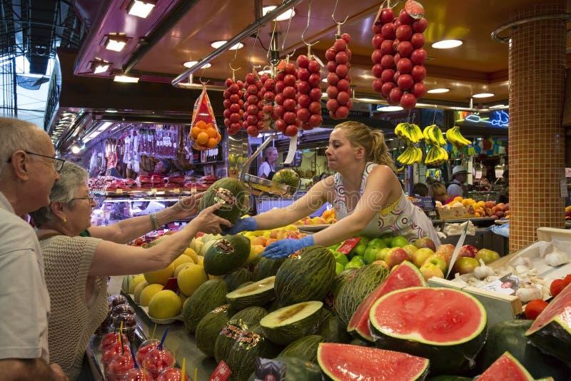 Mercado do alimento do St Joseph - Barcelona - Spain. fotografia de stock royalty free