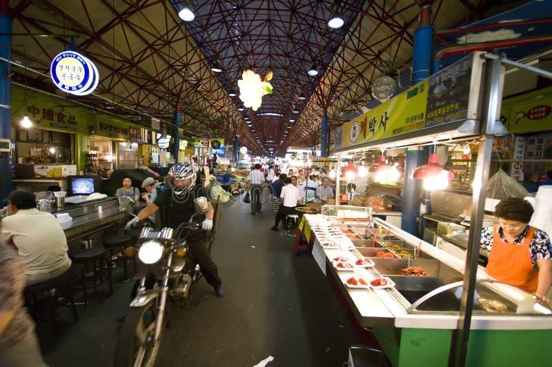 Mercado do alimento, Seoul imagem de stock
