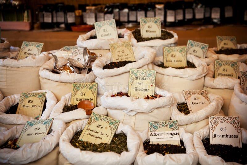 Mercado do chá do vintage imagem de stock royalty free