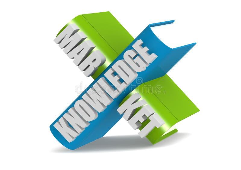 Mercado do conhecimento ilustração stock
