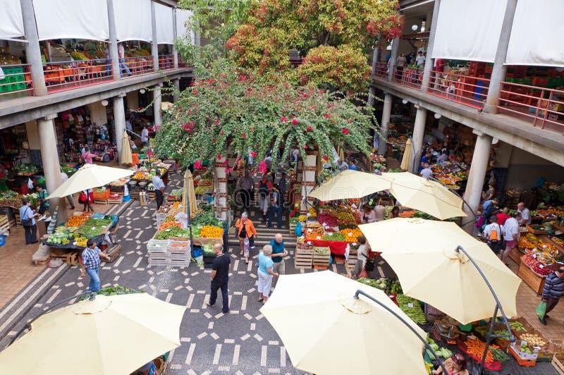 Mercado do dos Lavradores de Mercado em Funchal, Portugal imagens de stock