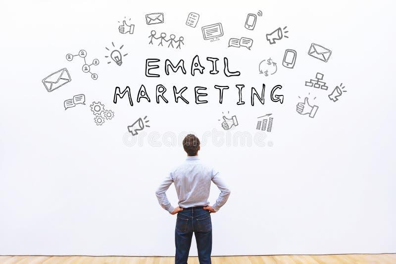 Mercado do email fotografia de stock