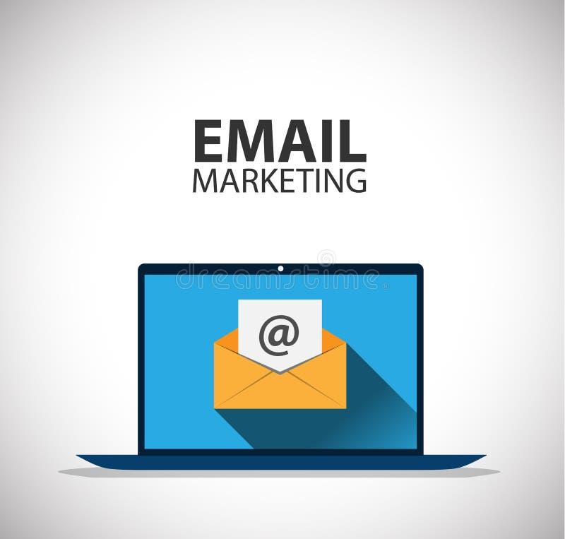 Mercado do email ilustração stock