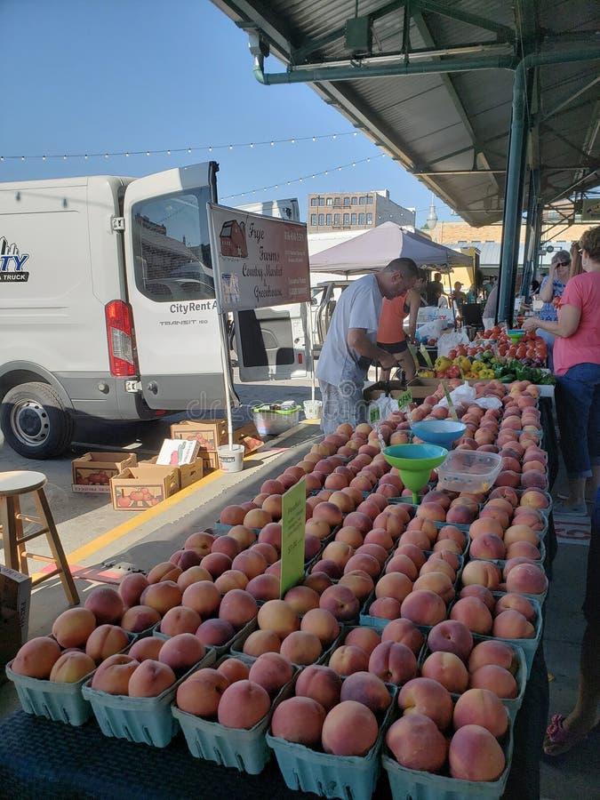 Mercado do fazendeiro no weekendview Kansas Missouri imagem de stock royalty free