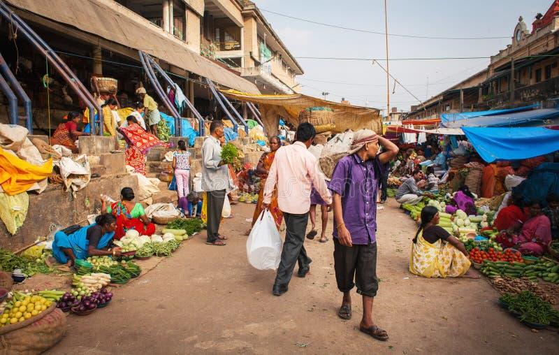 Mercado do indiano do fruto imagem de stock royalty free