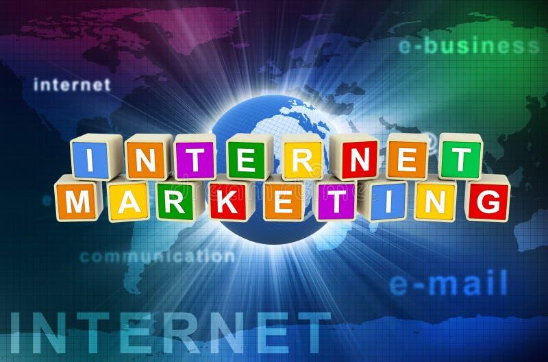 mercado do Internet 3d ilustração do vetor