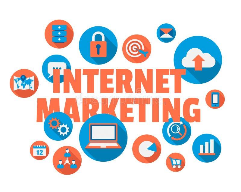 Mercado do Internet ilustração stock
