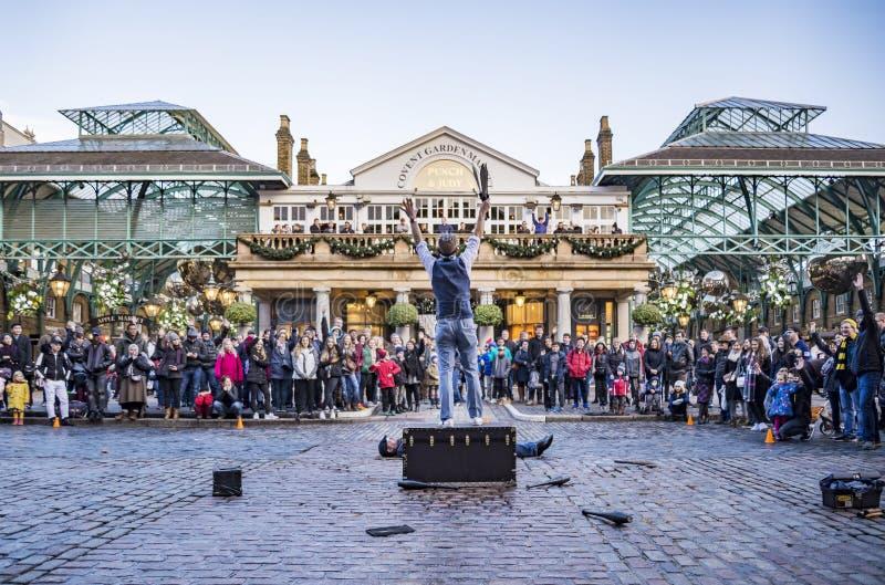 Mercado do jardim de Covent em Londres fotografia de stock