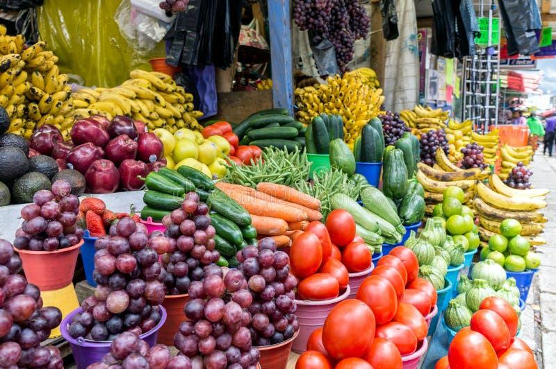 Mercado do legume fresco, San Cristobal De Las Casas, México imagem de stock royalty free