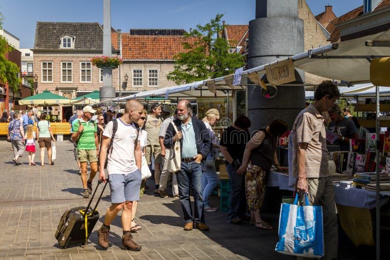 Mercado do livro de Dordrecht imagem de stock royalty free