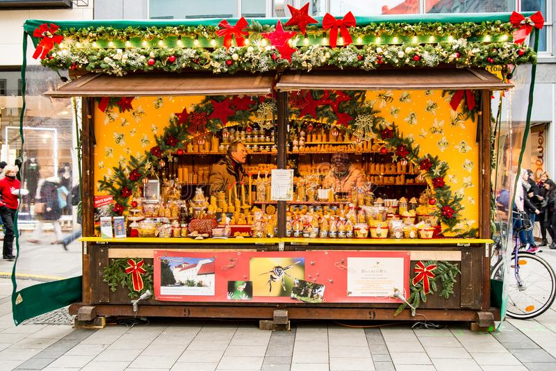 Mercado do Natal de Christkindlmarkt foto de stock