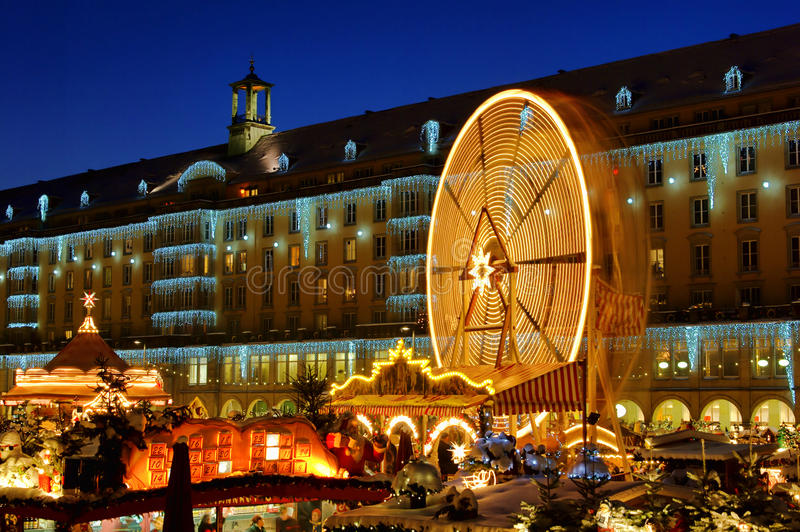 Mercado do Natal de Dresden fotografia de stock