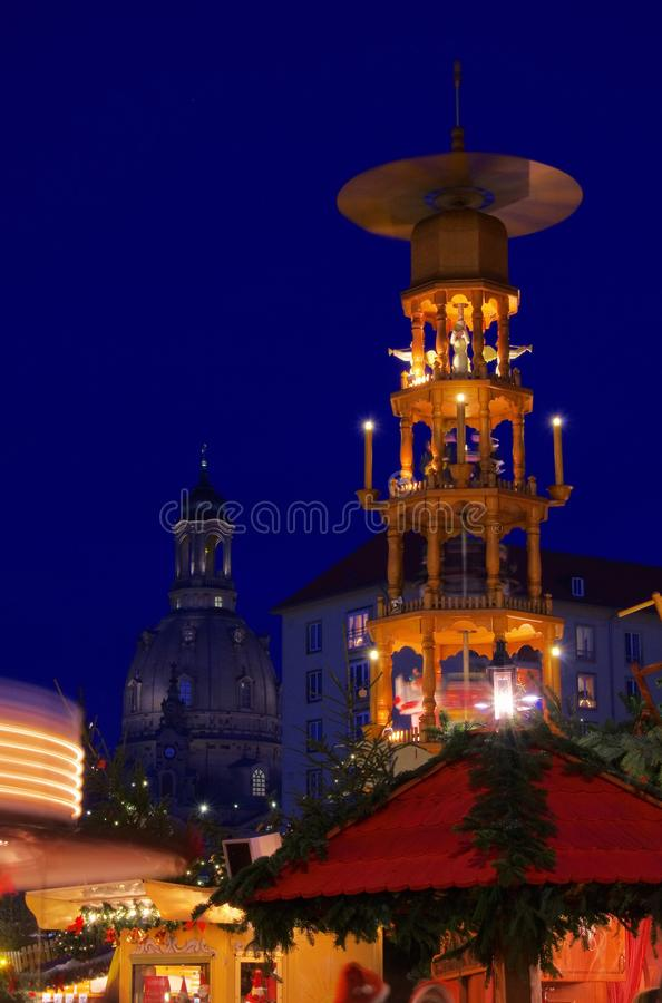 Mercado do Natal de Dresden imagens de stock