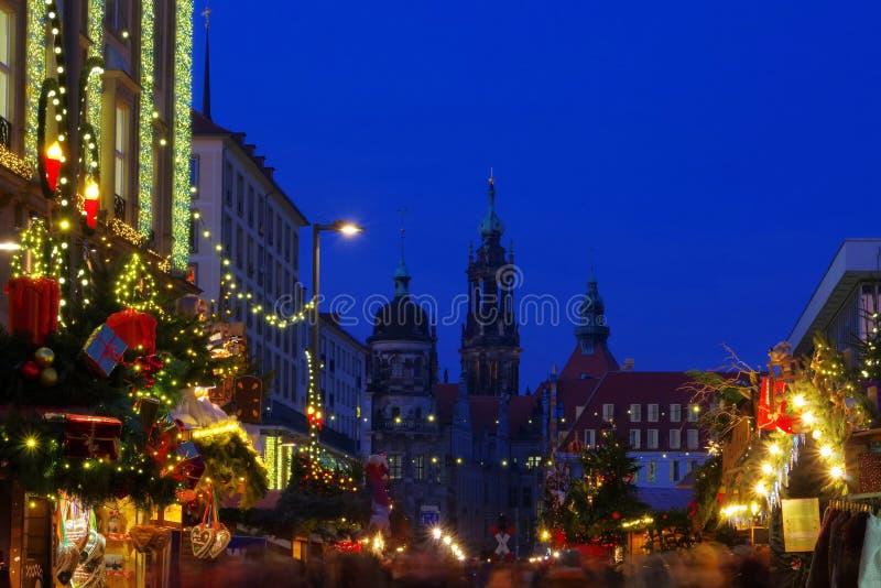 Mercado do Natal de Dresden foto de stock