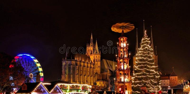 Mercado do Natal de Erfurt foto de stock royalty free