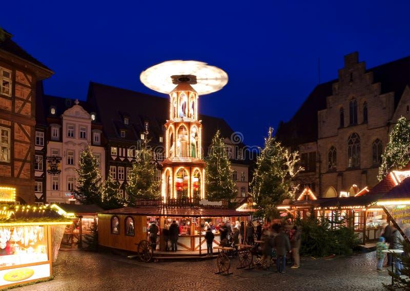 Mercado do Natal de Hildesheim imagens de stock royalty free