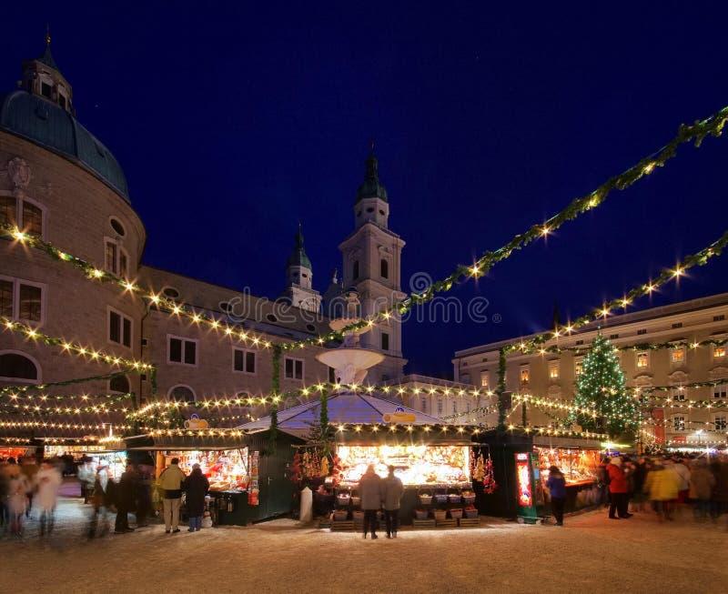 Mercado do Natal de Salzburg fotografia de stock royalty free