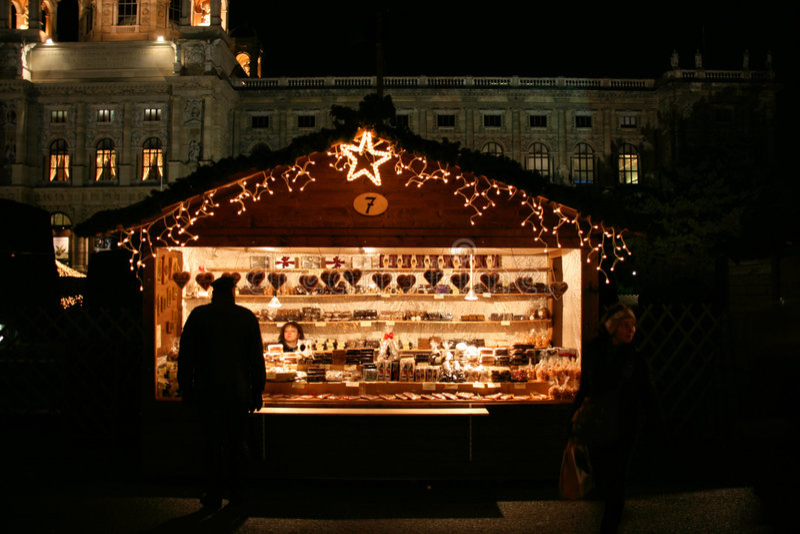Mercado do Natal de Viena fotos de stock royalty free