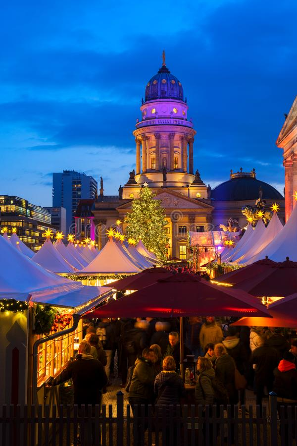 Mercado do Natal em Berlim foto de stock
