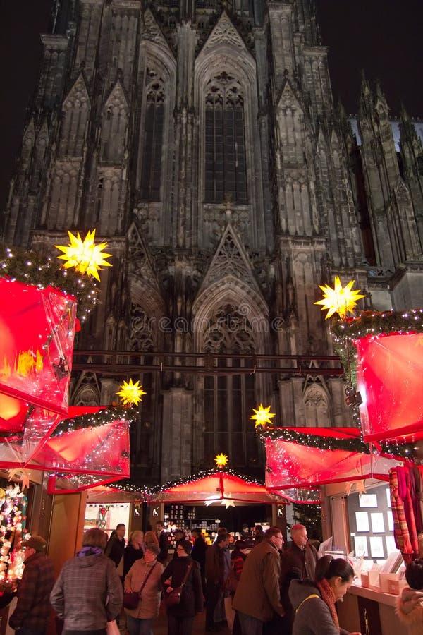 Mercado do Natal em Colónia imagem de stock