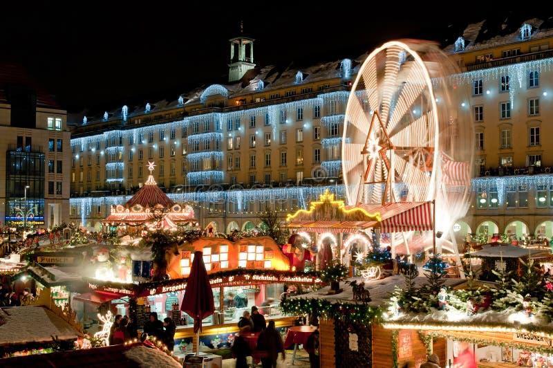 Mercado do Natal em Dresden imagem de stock royalty free