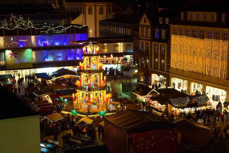 Mercado do Natal em Fulda, Alemanha imagens de stock royalty free