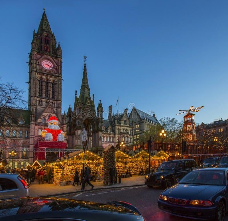 Mercado do Natal - Manchester - Inglaterra foto de stock