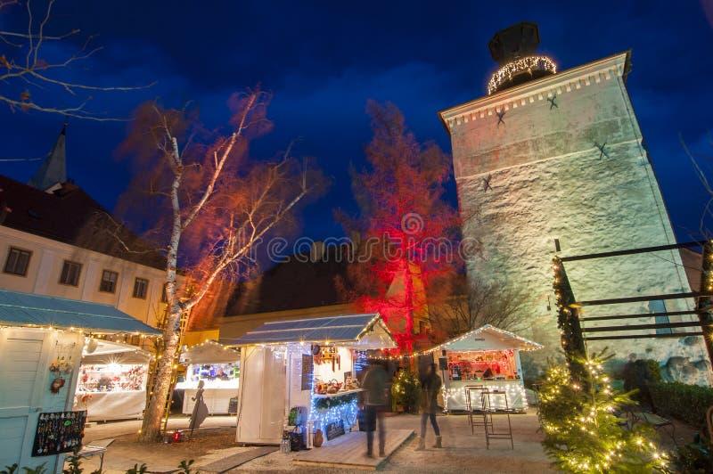 Mercado do Natal, Zagreb, Croácia imagens de stock royalty free