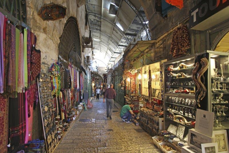 Mercado do quarto árabe do Jerusalém israel foto de stock