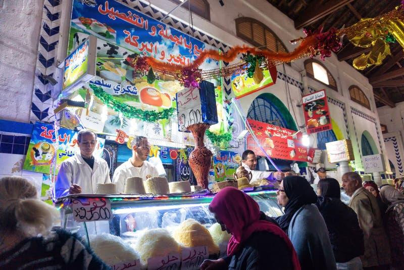Mercado do queijo em Tunes, Tunísia imagem de stock royalty free
