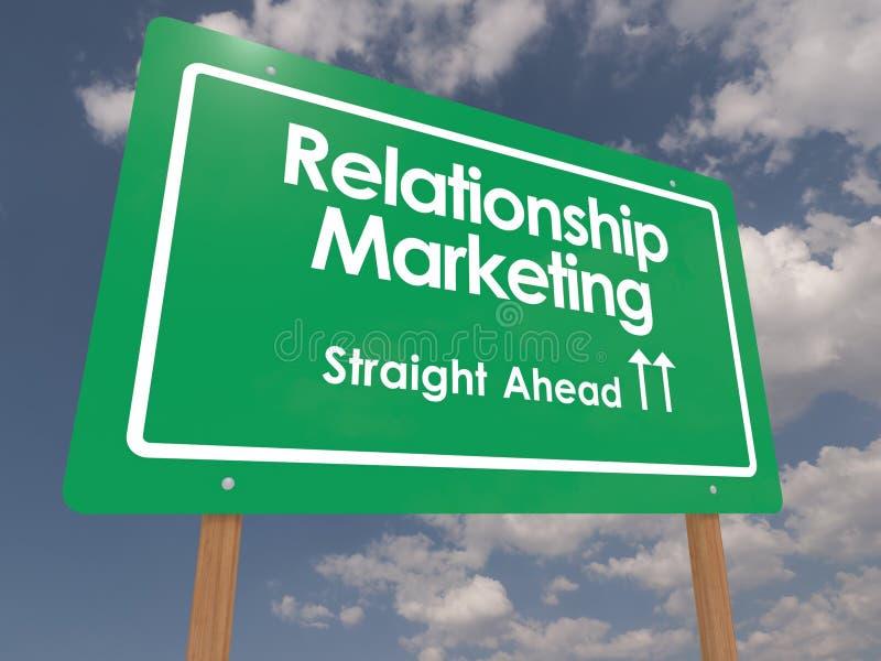 Mercado do relacionamento imagem de stock