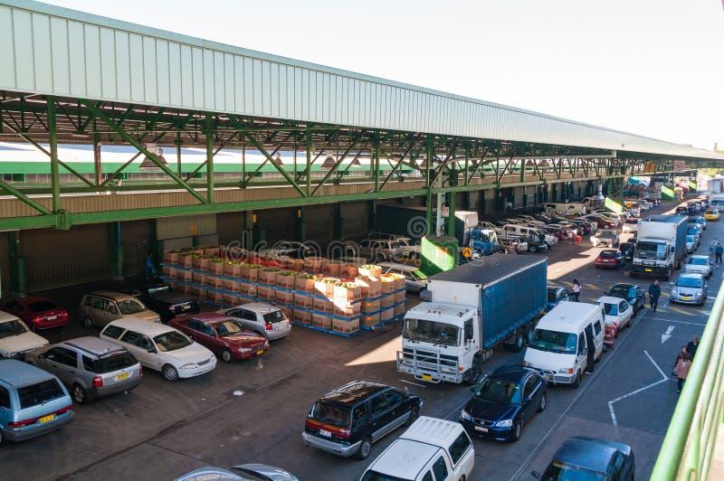 Mercado do ` s da almofada ou Sydney Market, Flemington imagem de stock royalty free
