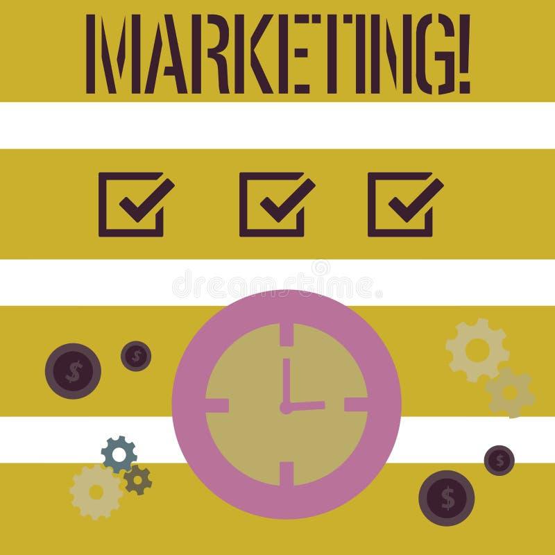 Mercado do texto da escrita da palavra Conceito do negócio para anunciar produtos de venda de uma empresa para promover algo ilustração do vetor