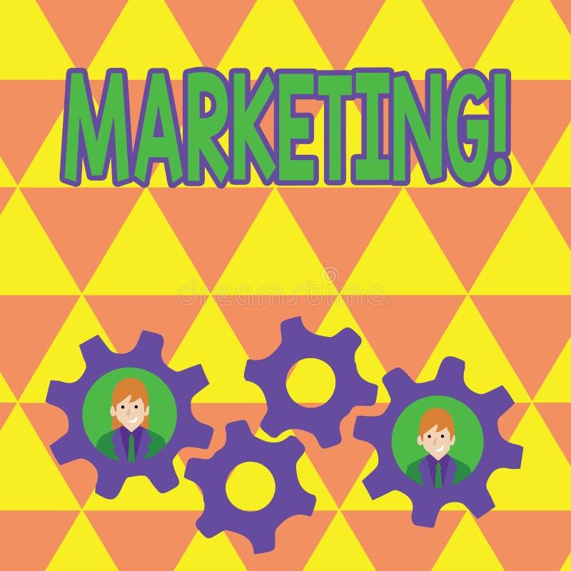 Mercado do texto da escrita da palavra Conceito do negócio para anunciar produtos de venda de uma empresa para promover algo ilustração royalty free